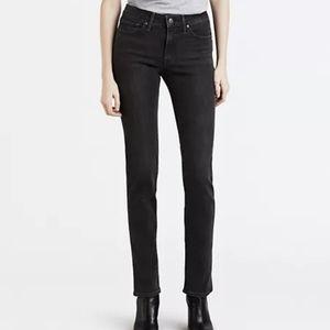 Levi's 712 Slim Black Jeans 27 Mid Rise Skinny